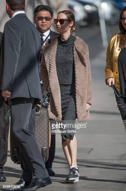 Brie Larson is seen at 'Jimmy Kimmel Live' on March 08 2017 in Los Angeles California
