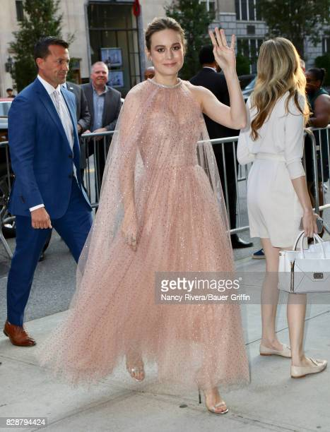Brie Larson is seen on August 09 2017 in New York City