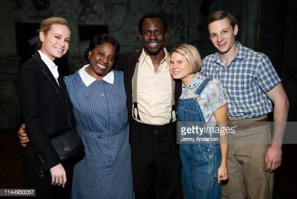 Brie Larson LaTanya Richardson Jackson Gbenga Akinnagbe Celia KeenanBolger and Will Pullen backstage at To Kill a Mockingbird at the Shubert Theatre...