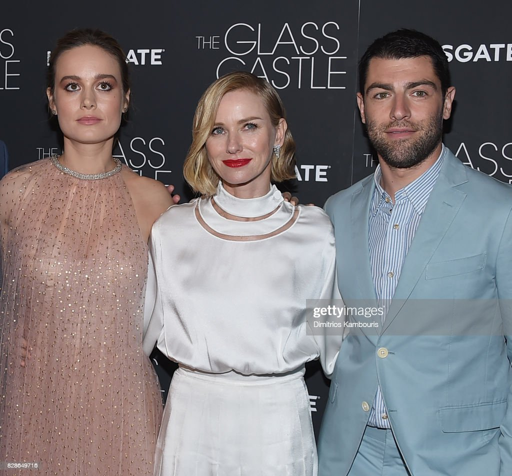 Brie Larson, Naomi Watts and Max Greenfield attend the 'The Glass Castle' New York Screening at SVA Theatre on August 9, 2017 in New York City.