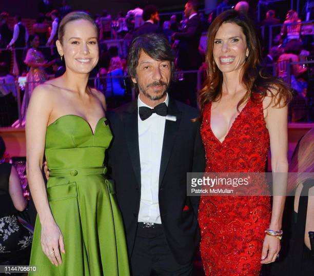 Brie Larson Pierpaolo Piccioli and Lynne Benioff attend the Time 100 Gala 2019 at Jazz at Lincoln Center on April 23 2019 in New York City
