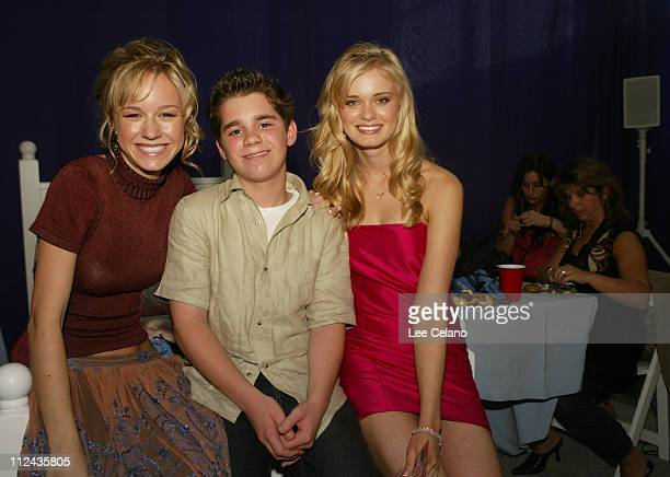 Brie Larson Ryan Pinkston and Sara Paxton during 'Sleepover' World Premiere After Party at ArcLight Cinerama Dome in Hollywood California United...