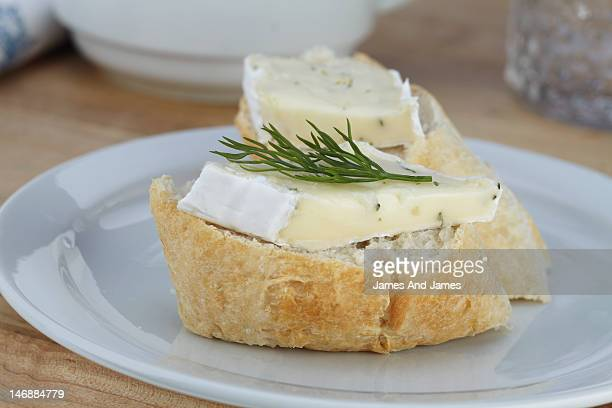 Brie on French Bread