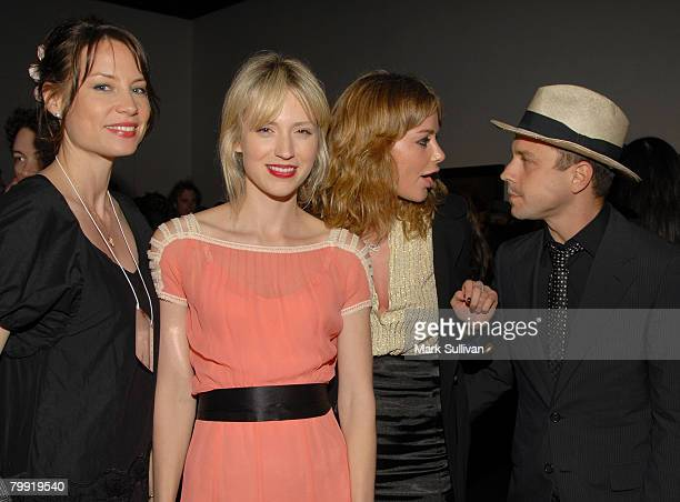 Brie Shaffer Beth Riesgraff Anine Bing and actor Giovanni Ribisi attend The Bryten Goss 2008 Memorial Exhibition held at Track 16 Gallery on February...