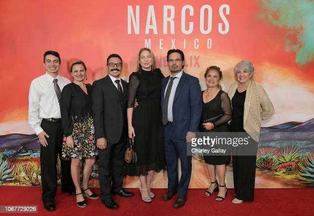Brie Shaffer Michael Pena and the Camarena family attend the Netflix Original Series Narcos Mexico special screening at LA Live in Los Angeles CA on...