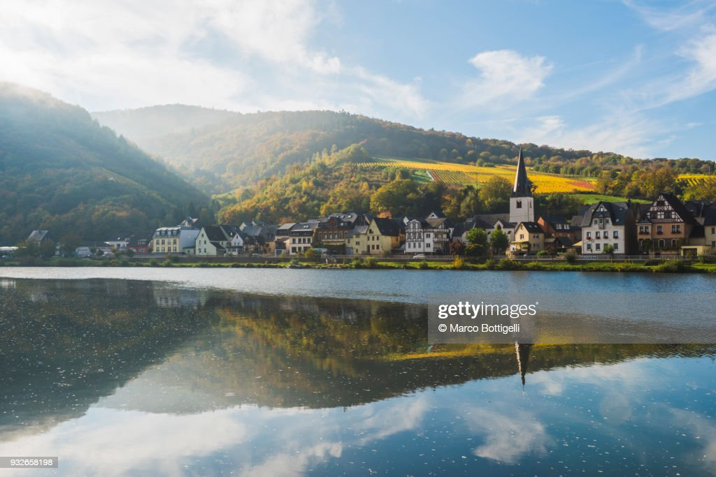 Briedern, Moselle river, Germany. : Stock-Foto