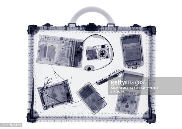 briefcase and it accessories, x-ray - leather stock pictures, royalty-free photos & images