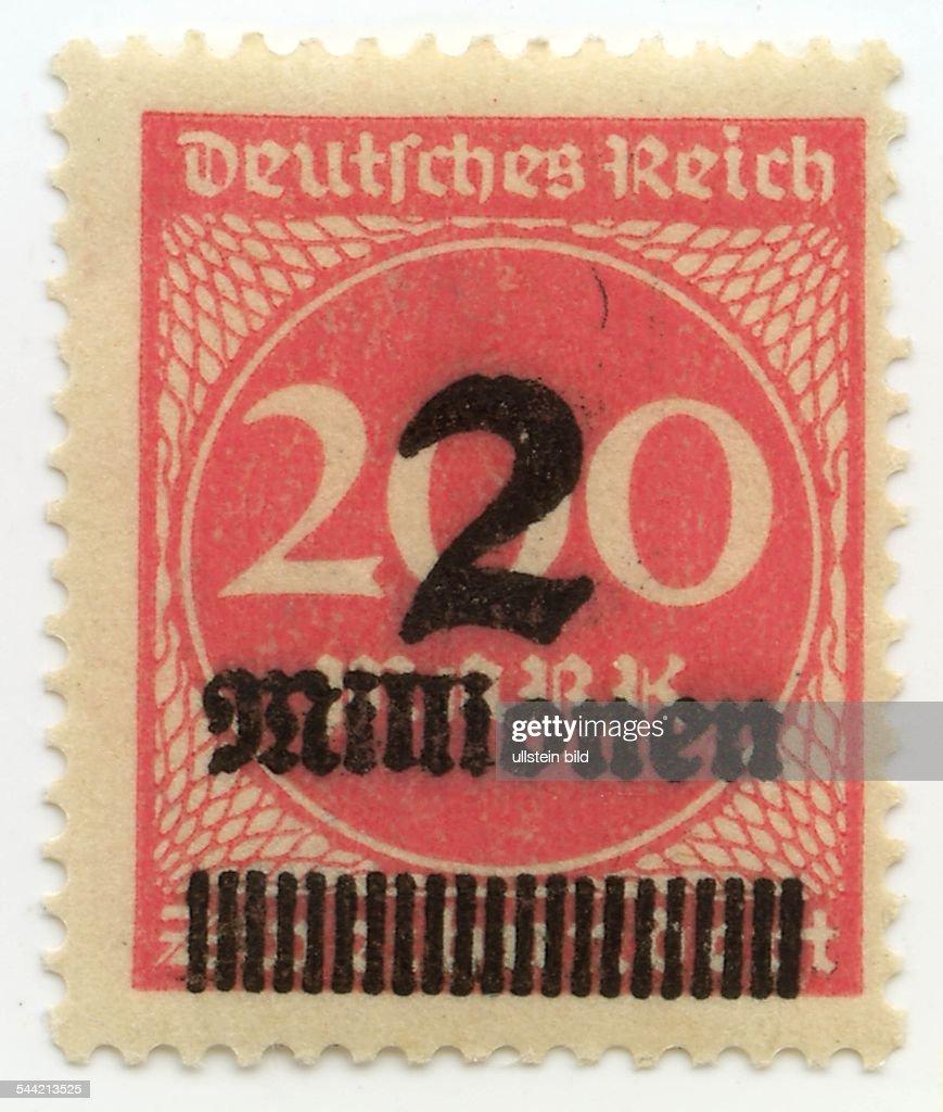 Briefmarken Deutschland 2020 402712 38 Weimarer Republik