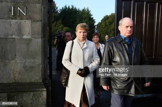Briege and Stephen Quinn leave after their meeting with Northern Ireland Secretary of State Shaun Woodward at Hillsborough Castle County Down Ireland...