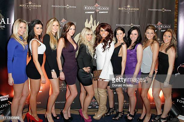 Briella Calafiore and Tracy Dimarco and friends visit the Foundation Room in Showboat Atlantic City on March 31 2011 in Atlantic City New Jersey