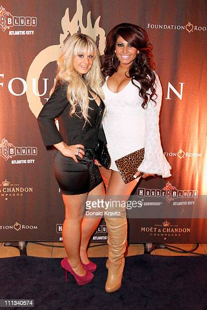 Briella Calafiore and Tracy Dimarco visit the Foundation Room in Showboat Atlantic City on March 31 2011 in Atlantic City New Jersey