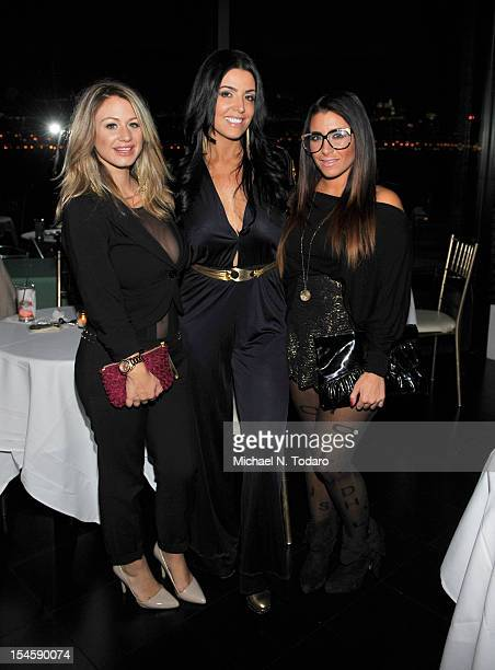 Briella Calafiore Ramona Rizzo and Jessica Romano attend the VH1 Save The Music Foundation benefit at Waterside Restaurant on October 22 2012 in...