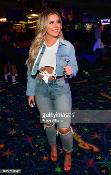 Brielle Biermann attends Lil Yachty's Birthday celebration at Sparkles Family Fun Center on August 23 2018 in Smyrna Georgia