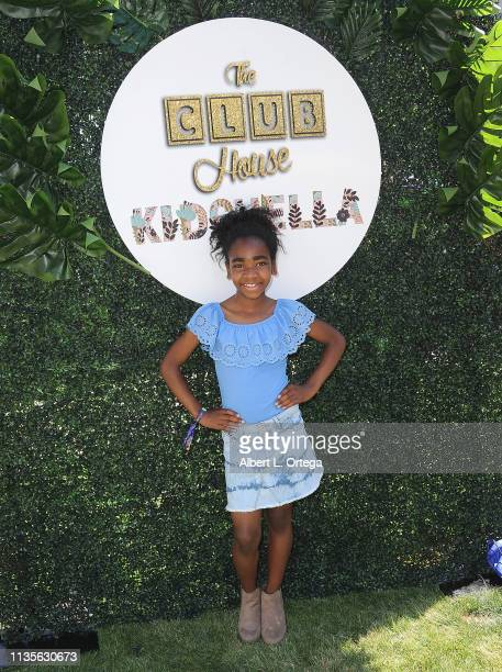 Brielle Sims arrives for Clubhouse Kidchella held at Pershing Square on April 6 2019 in Los Angeles California