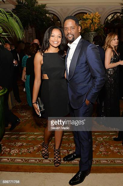 Brielle Underwood and actor Blair Underwood attend the after party for the 2016 Tony Awards Gala presented by Porsche at the Plaza Hotel on June 12...