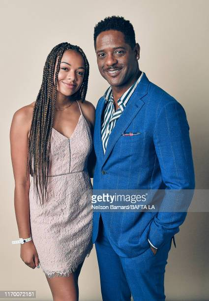 Brielle Underwood and Blair Underwood pose for a portrait at the BAFTA Los Angeles BBC America TV Tea Party 2019 on September 21 2019 in Beverly...