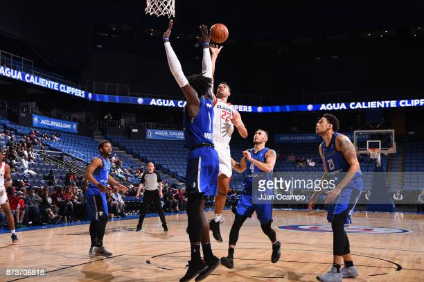 Brien of the Agua Caliente Clippers goes up against the Texas Legends in Ontario on November 10 2017 at Citizens Business Bank Arena in Ontario...