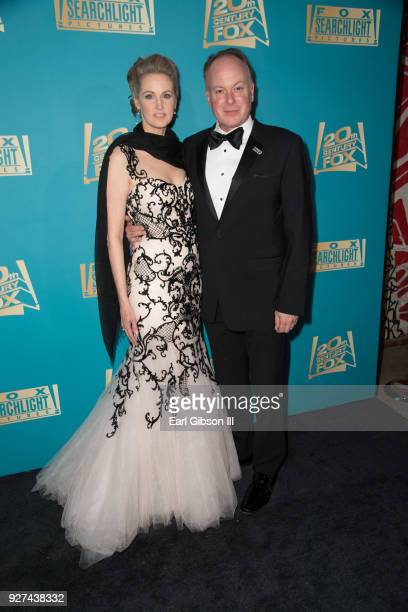 Brienne Cameron and Tom McGrath attend Fox Searchlight And 20th Century Fox Host Oscars PostParty on March 4 2018 in Los Angeles California