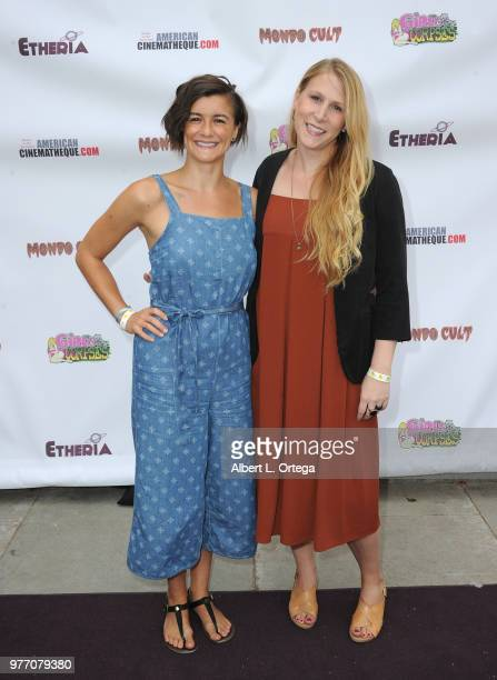 Brienne LaFlair and Lisa J Dooley arrive for the 2018 Etheria Film Night held at the Egyptian Theatre on June 16 2018 in Hollywood California