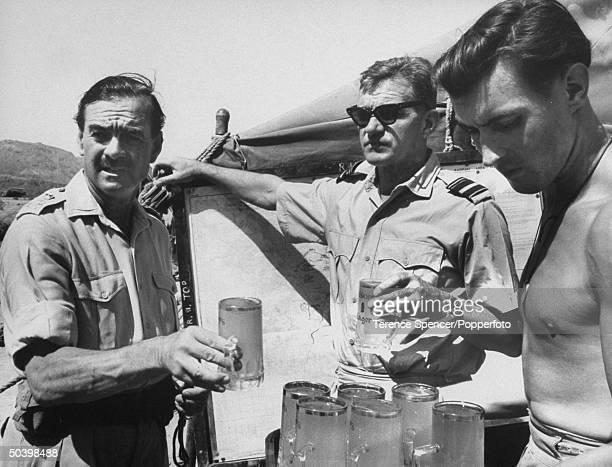 Brig Louis Hargroves with Air Vice Marshall visits British Base