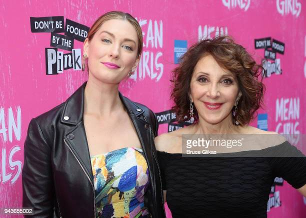 Briga Heelan and Andrea Martin pose at the arrivals for the opening night of the new musical based on the cult film 'Mean Girls' on Broadway at The...