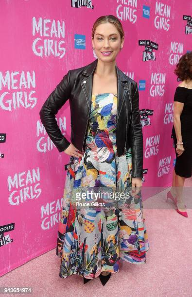 Briga Heelan poses at the arrivals for the opening night of the new musical based on the cult film 'Mean Girls' on Broadway at The August Wilson...