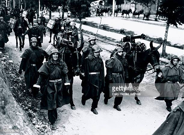 Brigade leaving for the Madrid Front Spanish Civil War 19361939 'In contrast to the early days of the war these welltrained and equipped soldiers now...