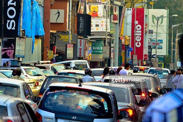 brigade road, bangalore - traffic stock pictures, royalty-free photos & images