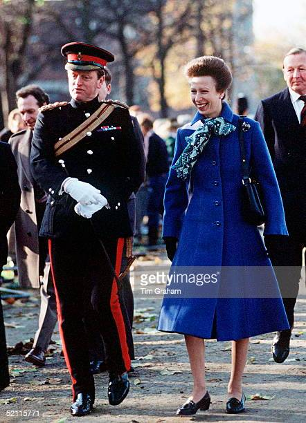 Brigadier Andrew Parkerbowles And Princess Anne At An Event In Hyde Park London