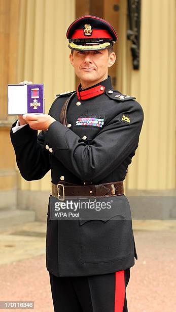 Brigadier Douglas Chalmers after he was made a Companion of the Distinguished Service Order for services in Afghanistan by the Prince of Wales at an...