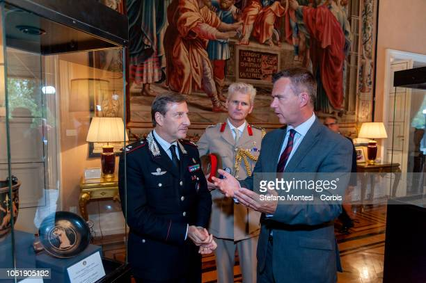 Brigadier General Fabrizio Parrulli Commander of the Italian Carabinieri Command for the Protection of Cultural Heritage Col Lindsay MacDuff UK...