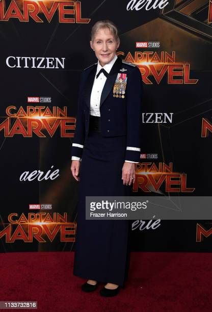Brigadier General Jeannie M Leavitt attends Marvel Studios Captain Marvel Premiere on March 04 2019 in Hollywood California