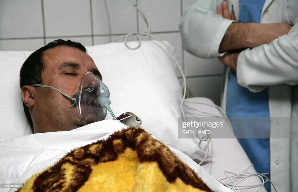 Brigadier General Sarhad Qadar is under respiratory assistance at Arbil hospital after he was wounded in a suicide car bomb at the police headquarters in Kirkuk, on February 3, 2013. The suicide car bomb during morning rush hour was quickly followed by an assault by grenade-throwing gunmen and killed 30 people in the disputed ethnically-mixed city of Kirkuk in north Iraq.