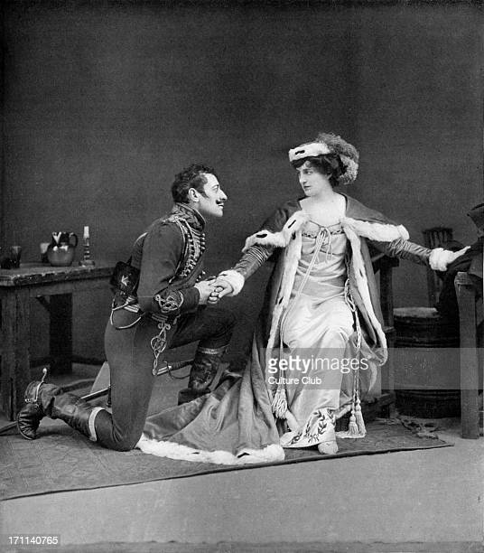 Brigadier Gerard by Sir Arthur Conan Doyle at Lyric Theatre London 1906 Act IV / Scene 2 wih Lewis Waller in title role and Evelyn Millard as...
