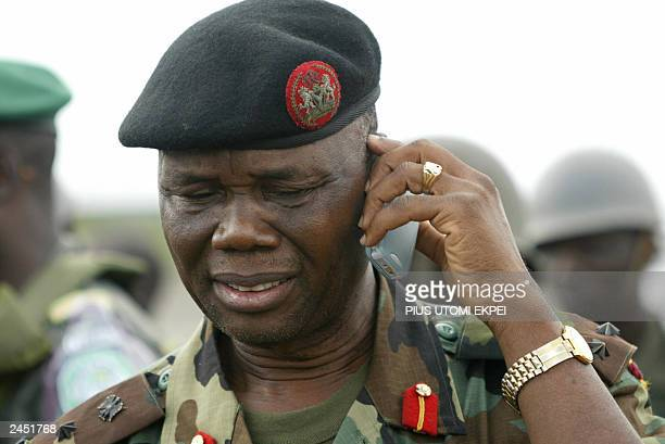 BrigadierGeneral Festus Okonkwo Nigerian commander of ECOMIL reassures his caller about the readiness to deploy troops at the MODEL controlled...