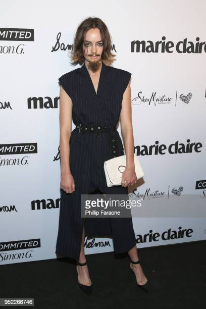 Brigette LundyPaine attends Marie Claire Celebrates Fifth Annual 'Fresh Faces' in Hollywood with SheaMoisture Simon G and Sam Edelman at Poppy on...