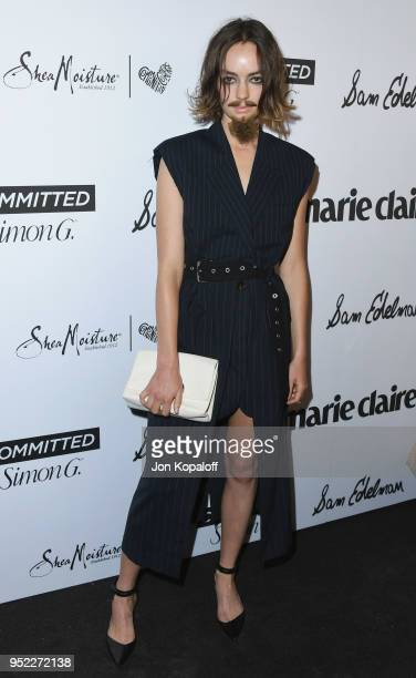 Brigette LundyPaine attends Marie Claire's 5th Annual 'Fresh Faces' at Poppy on April 27 2018 in Los Angeles California