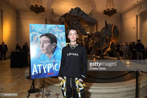 Brigette LundyPaine attends Netflix Atypical Season 3 special screening at Natural History Museum on October 28 2019 in Los Angeles California