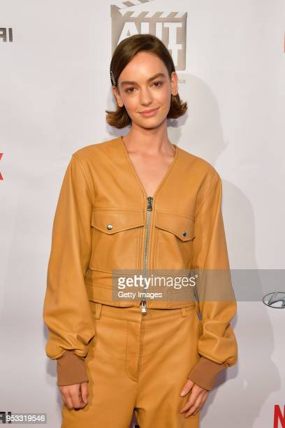 Brigette LundyPaine attends the 2018 AutFest International Film Festival Day 2 at Writer's Guild Theater on April 29 2018 in Los Angeles California