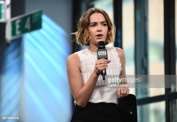 Brigette LundyPaine attends the Build Series to discuss her new projects 'Atypical' and 'The Glass Castle' at Build Studio on August 14 2017 in New...