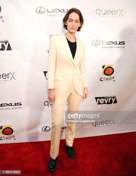 Brigette LundyPaine attends the closing night gala and Visibility Awards during Revry's 4th Annual QueerX Festival at The London West Hollywood on...