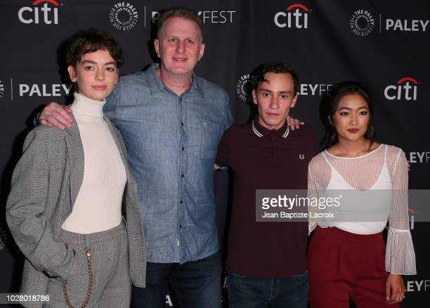 Brigette LundyPaine Michael Rapaport Keir Gilchrist and Amy Okuda of Netflix's Atypical attend The Paley Center For Media's 2018 PaleyFest Fall TV...
