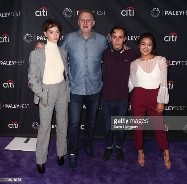 Brigette LundyPaine Michael Rapaport Keir Gilchrist and Amy Okuda from Netflix's Atypical attend The Paley Center for Media's 2018 PaleyFest Fall TV...