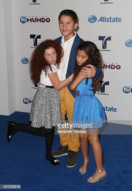 Briggitte Bozzo and Nicole Arci arrive at Telemundo's Premios Tu Mundo Awards at Fillmore Miami Beach on August 30 2012 in Miami Beach Florida