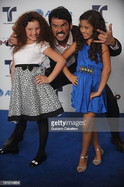 Briggitte Bozzo Gabriel Coronel and Nicole Arci arrive at Telemundo's Premios Tu Mundo Awards at Fillmore Miami Beach on August 30 2012 in Miami...