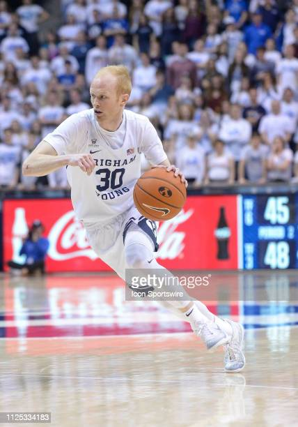 Brigham Young Cougars guard TJ Haws during a game between a game between the Pacific Tigers and the BYU Cougars on February 09 at the Marriott Center...
