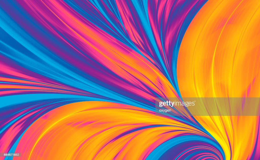 Bright Abstract Background, Flame Feather : Stock Photo