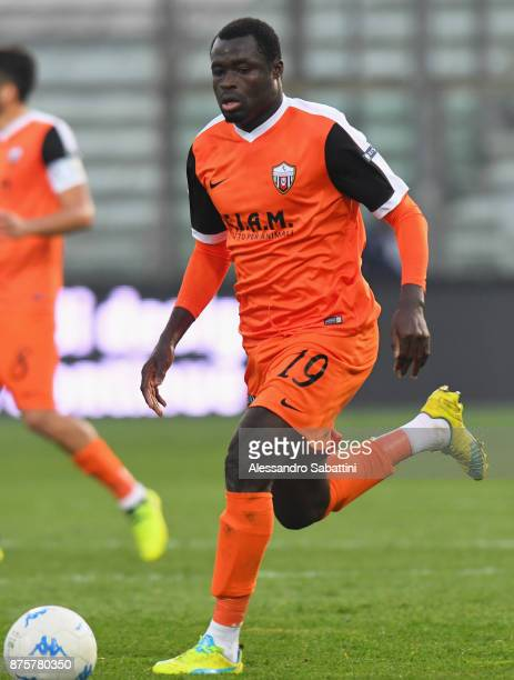 Bright Addae of Ascoli Picchio in action during the Serie B match between Parma Calcio and Ascoli Picchio at Stadio Ennio Tardini on November 18 2017...