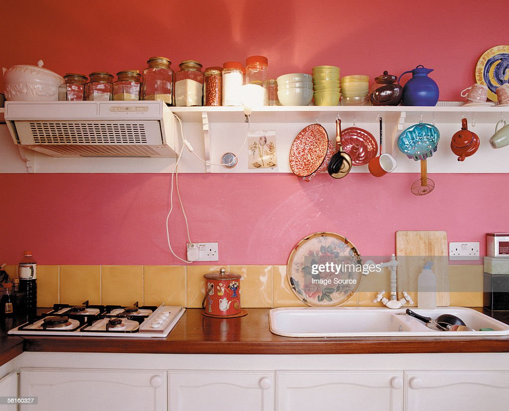 A Bright And Funky Kitchen High Res Stock Photo Getty Images