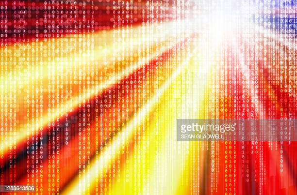 bright binary background - binary code stock pictures, royalty-free photos & images